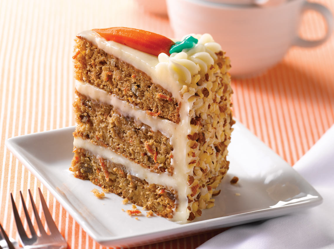 Carrot Cake With Raisins Walnuts And Pineapple